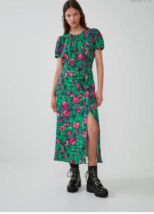 Платье zara сукня в квіти розмір хс