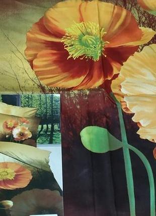 Дизайнерское сатиновое постельное белье премиум серия, евро размер