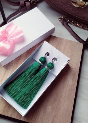 Серьги кисти, сережки кисточки, красивые серьги, сережки на выпускной, идея подарка