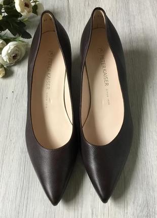 Фирменные кожаные туфли peter kaiser, размер 7/40.5