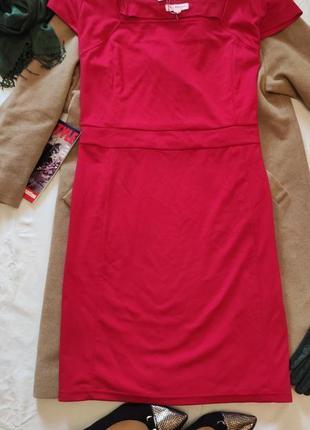 Красное большое батальное платье трикотажное миди glamorosa новое с биркой
