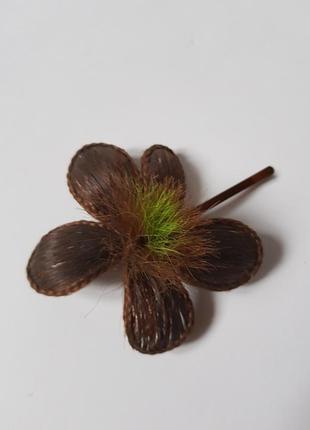 """Красивая заколка ручной работы,подарок,заколка для волос """"цветок"""",постиж"""