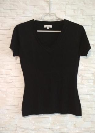 Черный топ блуза из вискозы