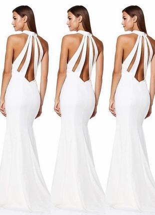 Вечернее свадебное макси платье рыбка от asos