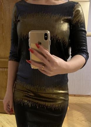 Платье guess в мелких пайетках