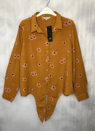 Рубашка трендового цвета из вискозы