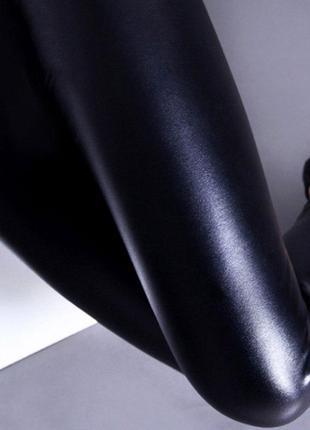 6. женские лосины с эффектом кожи4 фото