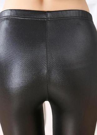 6. женские лосины с эффектом кожи5 фото