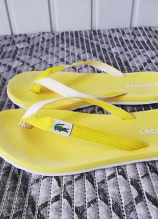 Шлепанцы, вьетнамки фирмы lacoste