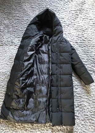Длинный зимний пуховик