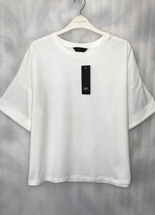 Молочная футболка оверсайз