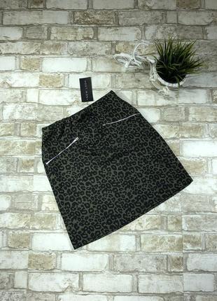 Трикотажная юбка в леопардовый принт трапеция asos, а силуэт
