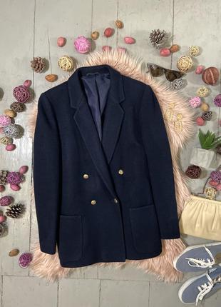 Актуальный винтажный двубортный пиджак жакет блейзер №29