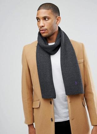 Шерстяной шарф от polo ralph lauren (207см*25см)