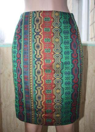 Шикарная винтажная юбка в орнаментах