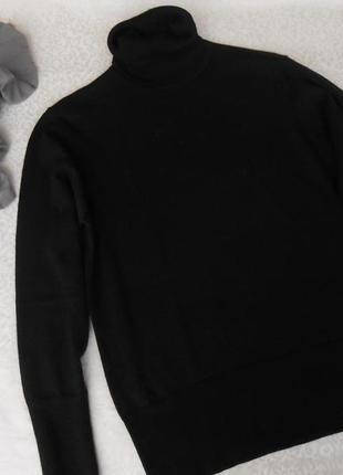 Massimo dutti свитерочек черный с горлышком размер хл