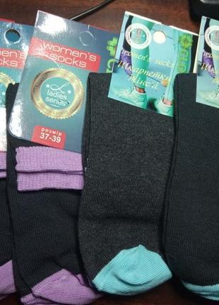 Набор 5 пар женские носки хлопок р.37-39