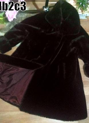Искусственная шуба мутон трапеция свободного кроя шуба 54-58р экомех из эко-меха франция
