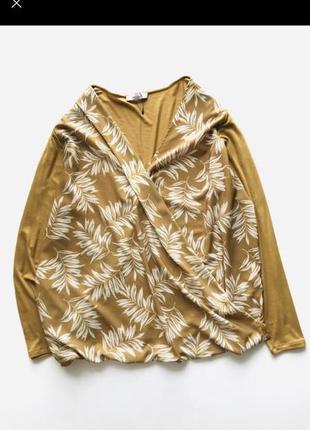 Блуза/лонгслив горчичного цвета