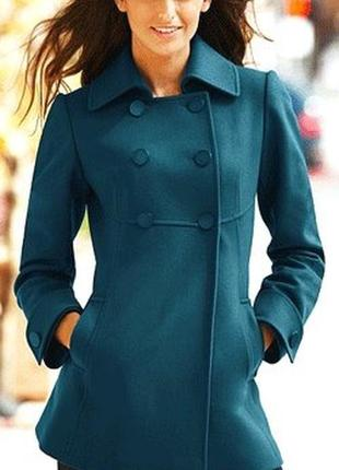 Брендовое демисезонное пальто с карманами divided шерсть