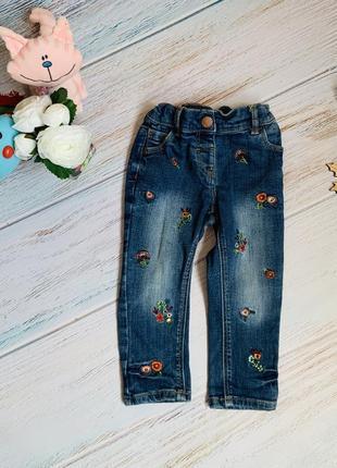 Фирменные джинсы next ( 2018 г) малышке 1-1,5