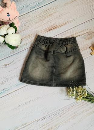 Фирменную джинсовую юбку next малышке 2- 3 года