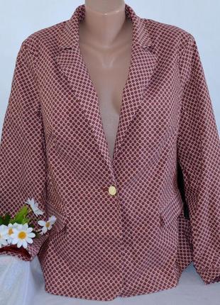 Брендовый пиджак жакет блейзер с карманами tu вьетнам вискоза этикетка