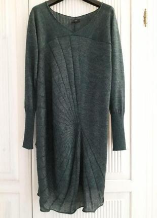 Crea concept платье свитер туника изумруд