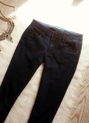 Синие джинсы скинни джеггинсы узкачи американки низкая талия посадка