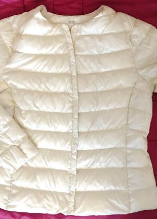Куртка, пуховик uniqlo, р.48 евро 14.пух-100%