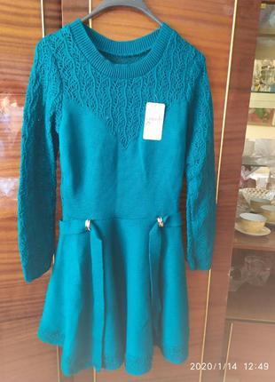 Платье теплое, вязаное. сукня в'язка.