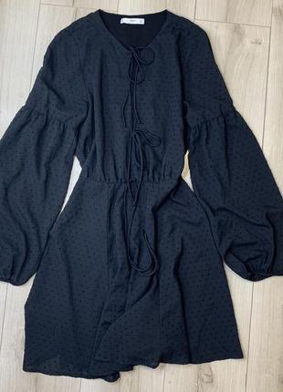 Чёрное платье mango