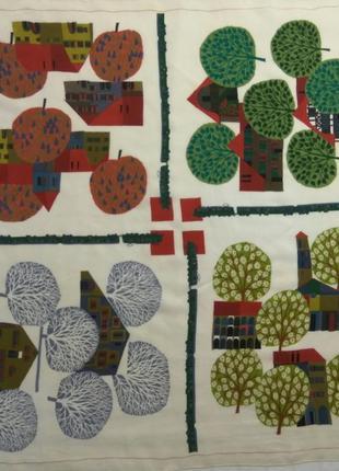Швейцарский шелковый винтажный платок в стиле hermes