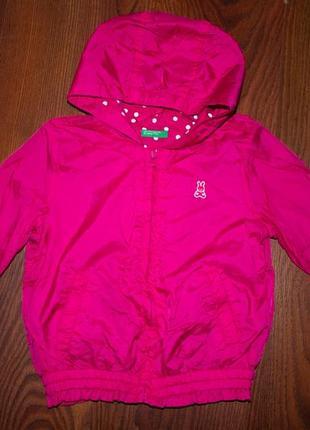Ветровка, весенняя куртка на девочку 3 года benetton