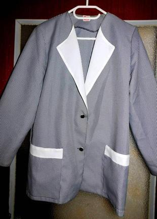 Пиджак+ юбка, костюм, фабричный, польша, р. л, хл, 2хл..