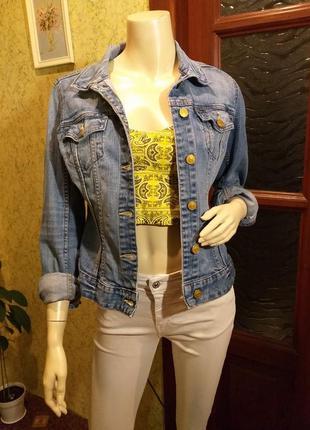 Синяя джинсовая куртка clockhouse пиджак жакет