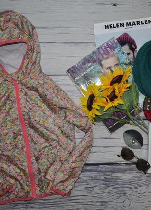 8 лет 128 см обалденная деми куртка курточка ветровка next некст цветы