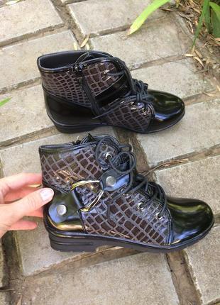 Демисезонные ботинки р34,35,36 для девочки