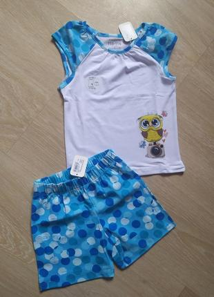 Пижама футболка и шорты на девочку
