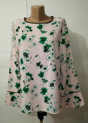 Блуза красивая цветочная модной расцветки marks&spencer uk 16-18/44-46/xl-xxl