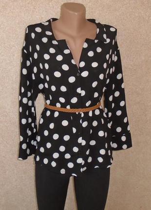 Рубашка в белый горошек/блуза/сорочка в горошок