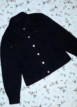 🎁1+1=3 фирменная черная джинсовая куртка олдскул lafeinier, размер 44 - 46
