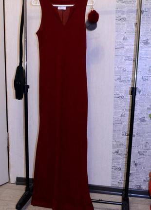 Шикарное платье в пол от principles немыслимо красивого оттенка