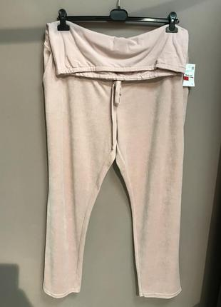 Велюровые штаны для беременных
