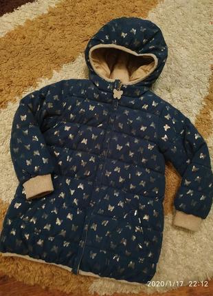 Шикарная двусторонняя куртка на 5-6-7 лет, еврозима - демисезон