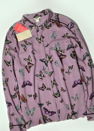Monsoon рубашка с принтом бабочек вискоза