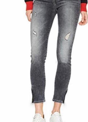 Укороченые джинсы черные/серые tommy hilfiger оригинал м