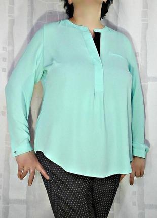 Невероятно красивая бирюзовая блузка