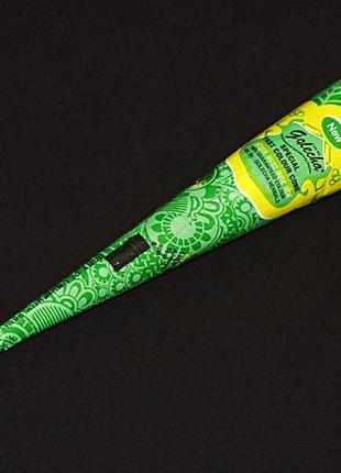 Хна для мехенди зеленая golecha (голеча) в конусе