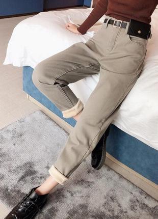 Утеплённые джинсы